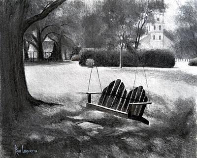 Tree Swing In Grand Coteau Art Print by Ron Landry