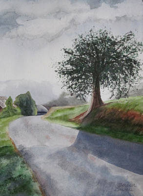 Art Print featuring the painting Tree by Teresa Beyer