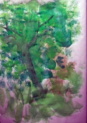Tree.cohen And Me Art Print by Peter Edward Green