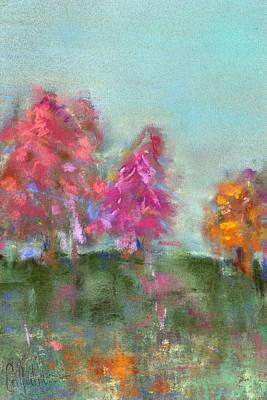 Pastel - Trees by Debbie Callahan
