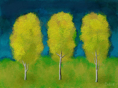Going Green - Trees in Triplicate Harvest by Robin Lewis