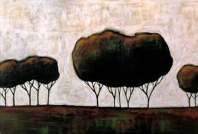 Tonal Painting - Trees On The Prairie by Amy Giacomelli