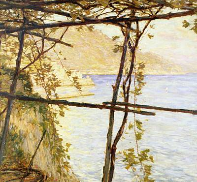 Vine Painting - Trellised Vine by Henry Herbert La Thangue