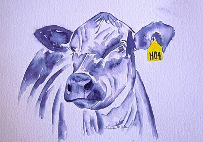 Black Angus Painting - Trendy Lady H04 by Sharon Mick