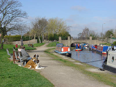 Comedian Drawings - Trent and Mersey Canal - Willington by Rod Johnson