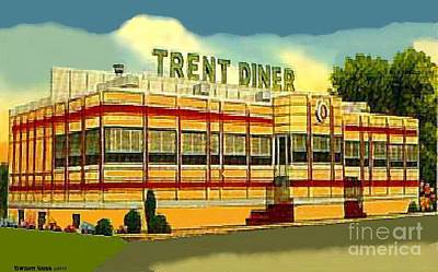 Painting - Trent Diner In Trenton N J Around 1945 by Dwight Goss
