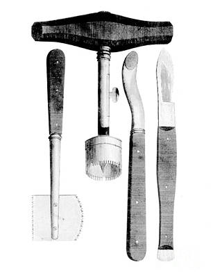 Trephination Instruments, 1813 Art Print by Science Source