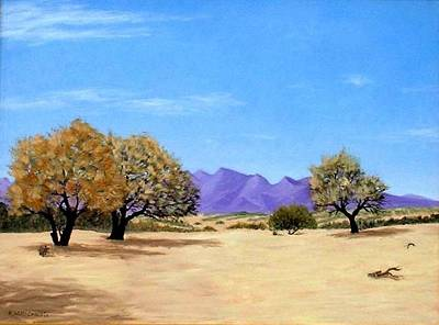 Sea Of Cortez Painting - Tres Arboles by Russell McCrackin