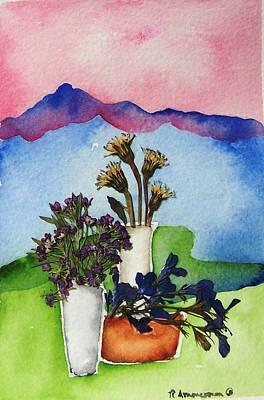 Tres Vasos Art Print by Regina Ammerman