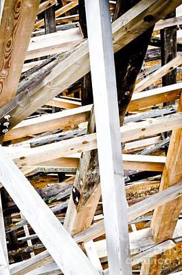 Trestle Beams Kinsol Trestle Wooden Beams Of The Railroad Bridge Art Print