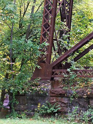 Photograph - Trestle Bridge Foundation Photograph by Kristen Fox