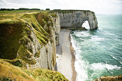 Scenic View In France Photograph - Étretat by Daniel Gasienica