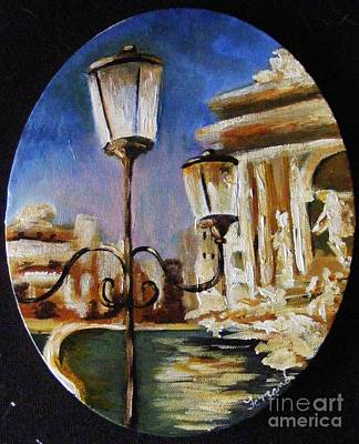 Art Print featuring the painting Trevi Fountain by Karen  Ferrand Carroll