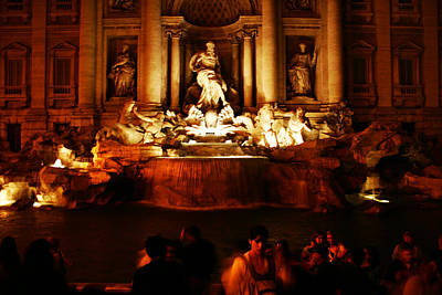 Photograph - Trevi Fountain Rome Italy by Benjamin Dahl