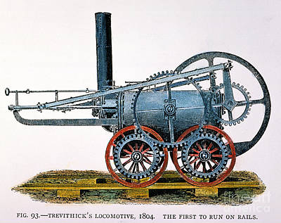 Trevithicks Locomotive Art Print