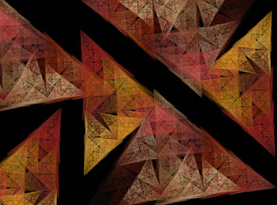 Fractal Geometry Digital Art - Triangles by Betsy Knapp