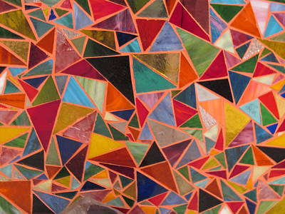 Triangles Art Print by Donna Moore