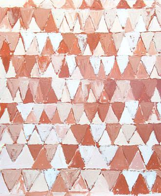 Triangular Sepia And White Waves Art Print by Kazuya Akimoto