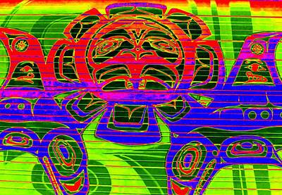 Digital Art - Tribal Council 1 by Randall Weidner