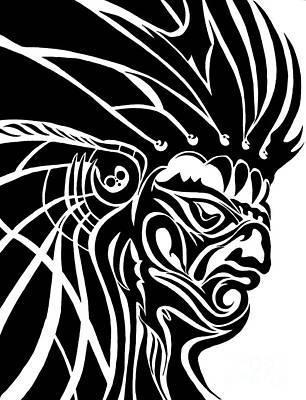 Tribal Leader Print by Jack Norton