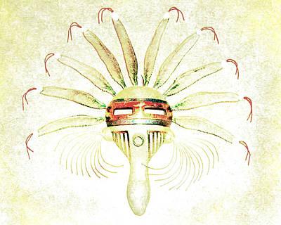No People Photograph - Tribal Mask II by Arne Hansen
