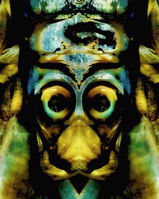 Tribal Mask Art Print by Skip Nall