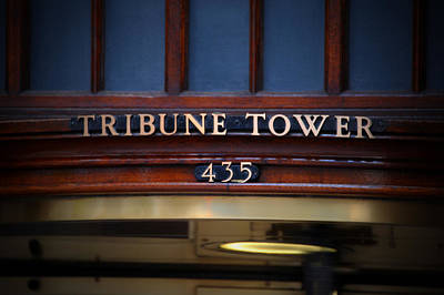 Photograph - Tribune Tower by Anthony Citro