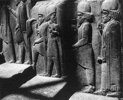 Ancient Persia Photograph - Tribute Bearers, Persepolis, Iran by Science Source