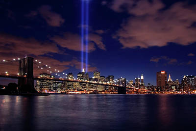 911 Memorial Photograph - Tribute In Light II by Rick Berk