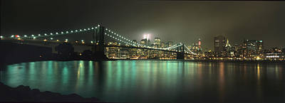 Tribute In Light, Lower Manhattan On Art Print by Axiom Photographic