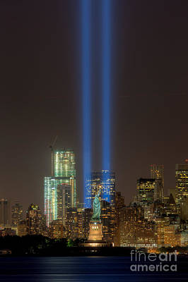 Photograph - Tribute In Light Xii by Clarence Holmes