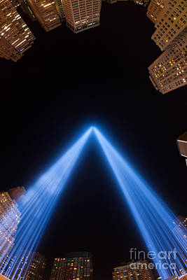 Photograph - Tribute In Light Xiv by Clarence Holmes