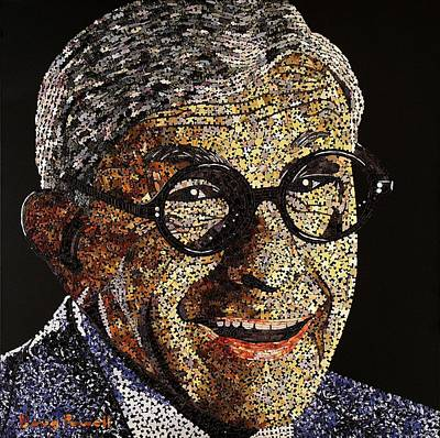 Tribute To George Burns Art Print