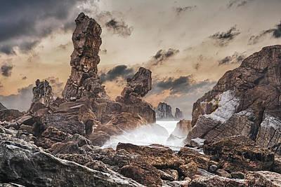 Trident Print by Evgeni Dinev