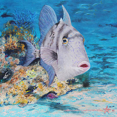 Triggerfish Painting - Trigger Happy by Charlotte Curran