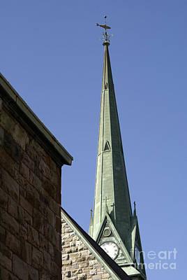 Photograph - Trinity Church Steeple Saint John New Brunswick Canada by John  Mitchell