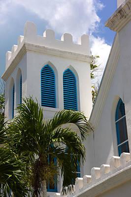 Photograph - Trinity Presbyterian Church Tower by Ed Gleichman