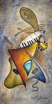Virgil C Stephens Painting - Trio by Virgil Stephens
