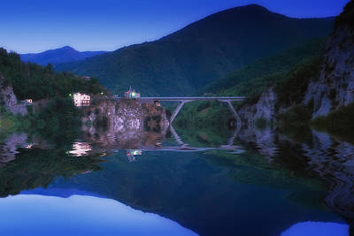 Photograph - Triora The Bridge At Sunset - Il Ponte  Sul Calar Della Sera by Enrico Pelos