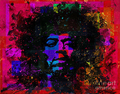 Tripping With Hendrix Art Print by Chris Mackie