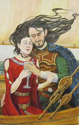 Tristan And Isolde Art Print by Judy Riggenbach