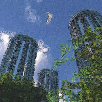 Triton Towers Art Print by Richard Rizzo