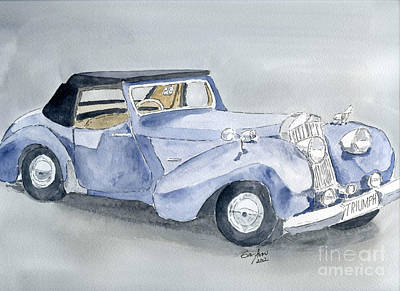 Painting - Triumph Roadster 45-49 by Eva Ason