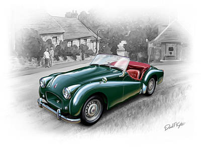 Tr Painting - Triumph Tr-2 Sports Car by David Kyte