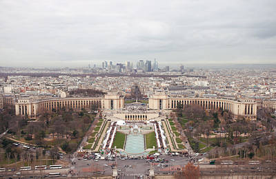 Trocadero From Eiffel Tower Print by Nico De Pasquale Photography