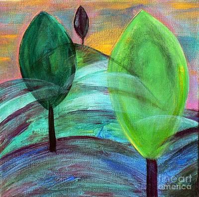Trois Trees Art Print
