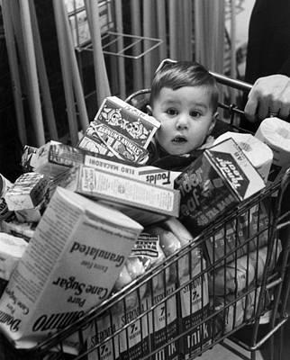 Children Only Photograph - Trolley Boy by Kurt Hutton
