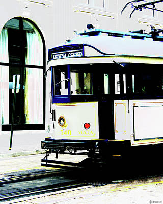 Digital Art - Trolley Madison Ave by Lizi Beard-Ward