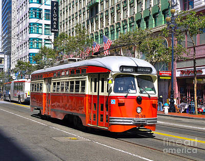 Photograph - Trolley On Market by John Waclo