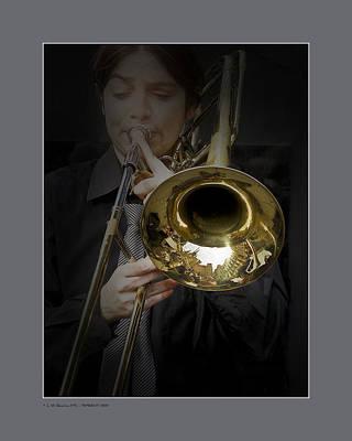 Trombone Art Print by Pedro L Gili